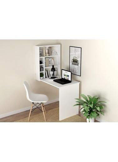 Sanal Mobilya Fama Mutfak Masası Çalışma Masası ( Parlak Beyaz ) Beyaz